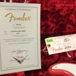 Fender custom shop certificate